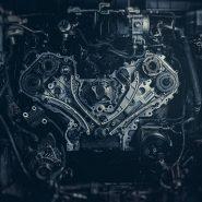 V8 Car Engine. Stock photo